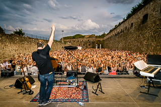 Shape Of Ed, the Ed Sheeran Tribute-Act beim Rheinpuls Festival auf der Festung Ehrenbreitstein, Koblenz am 23.08.2018